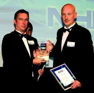 The NHP sponsored Industrial Automation Award presented to Bruce Dalton (right) by NHP's Rod Edwards recognised Dalton Electrical's winning project excellence - See more at: http://localhost:8888/dalton/awards-recognise-dalton/#sthash.FIaveOns.dpuf