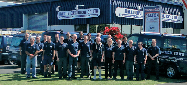 With 46 uniformed staff and 36 service vehicles Dalton Electrical provides 24/7 service to Auckland's industrial community